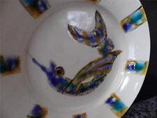 JOHNSTON & GENTITHES Seagrove Pottery Hand Painted Shrimp Plate Signed