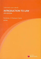 Introduction to Law by James Thomson, Rick Sarre, Michael Pembroke (Paperback, …
