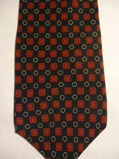Gap Premium Black Red Beige Checker Polka-Dot Designs Silk Tie 58""