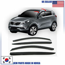 SMOKED DOOR WINDOW VENT VISOR DEFLEKTOR (A119) for KIA SPORTAGE 2011-2015