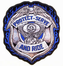 JUMBO PROTECT SERVE RIDE POLICE PATCH JP37 biker new iron on badge sewon patches