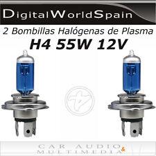 2 BOMBILLAS HALOGENAS DE PLASMA H4 55W 12V LUZ MUY BLANCA HOMOLOGADAS