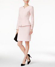 NWT Tahari ASL Petite Peplum Zip-Front Skirt Suit, Size 0P