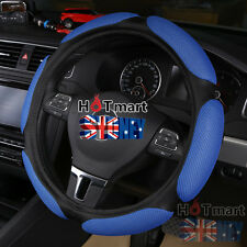 Blue breathable universal mesh ice silk fibre auto car steering wheel cover