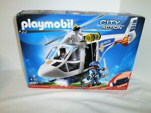 2015 Playmobil #6921 City Action Police Helicopter Sealed NIB Made in Germany