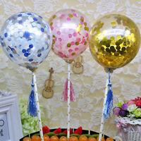 "1 x 5 "" BALLOON CAKE TOPPER CONFETTI BRIDE PARTY BIRTHDAY/WEDDING MINI GARLAND"