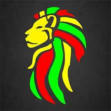 Rasta Sticker Decal Reggae Lion Of Judah Yellow Face Beach Tropical Island