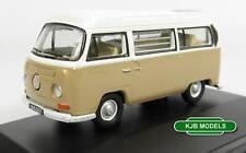 BNIB OO GAUGE OXFORD 1:76 76VW027 VW BAY WINDOW CAMPER VAN SAVANNAH BEIGE/ WHITE