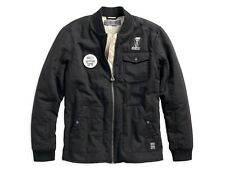 NEW Harley Davidson Quilted Canvas Slim Fit Jacket Black Size 3XL Slim Fit