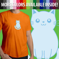 Kitty Cat Cartoon Kawaii Pet Animal Feline Unisex Mens Tee Crew Neck T-Shirt