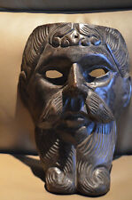 VNTG  Hand Carved Wooden Mask-FIGURAL MAN WITH BEARD-Conquistador