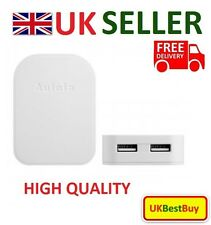 Foldable Double USB 5V 2A UK Mains Plug Charger For iPhone Samsung Sony -White