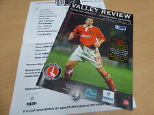 Charlton Athletic v Queens Park Rangers FA Cup R4 08.01.00