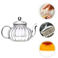 1Pc Heat-Resistant Tea Pot Glass Kettle Tea Pot Pumpkin-Shape Glass Tea Pot