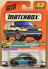 MATCHBOX 2000 TREASURE HUNT #53 OF 100 '62 VW BEETLE - BEACH