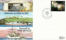 GB 2002  Welcome HMS ECHO,  Farewell to HMS BEAGLE.  Special Cover.