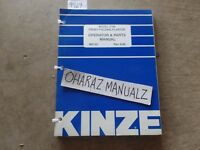 Aug 1998 KINZE 2700 Front Folding Planter Operator & Parts Manual M0152
