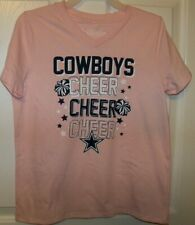 Dallas Cowboys Cheer Cheerleader Pink Short Sleeve Shirt Girls Large 12 / 14 NWT
