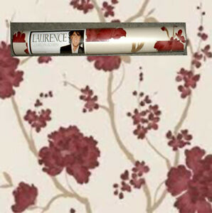 LAURENCE LLEWELYN-BOWEN WALLPAPER FOR GRAHAM & BROWN LOVE LETTER RED NEW