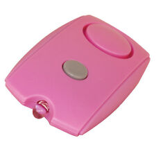 Mini PERSONAL SECURITY ALARM 120db w/ LED Light Belt Clip Key Chains Pink NEW
