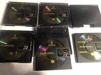 5 TDK  MD-74  MiniDiscs 74 Minidiscs Perfect, with Slip cases