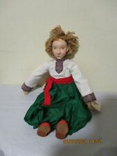 New listing Vtg The Heart Of A Doll Ukrainian Womens Initiative Hand Made Bisque/Cloth Doll