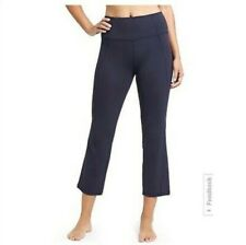 Athleta Salutation Kickflare Pant Capri Yoga Leggings Navy Blue Women's M
