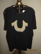 True Religion T-Shirt BIG HORSESHOE  Adult XXL (NWT) Black 100% Cotton