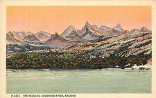 Fred Harvey Linen Postcard; The Needles, Colorado River AZ Unposted