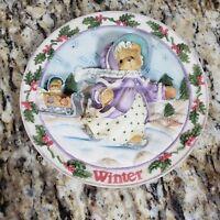 Cherished Teddies Winter Plate Four Seasons Vintage 1996