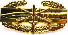 Special Forces Combat Action Badge Army CAB Military Airborne Insignia GOLD Pin