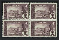 Australia 75th Anniversary of Founding of Broken Hill Silver Mine Block of 4 MNH