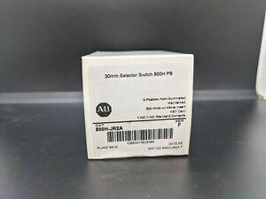 Allen Bradley 800H-JR2A 3 Position Selector Switch White Std Knob Maint