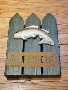Gone fishing 8×11 cabinet style key holder