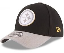 Pittsburgh Steelers New Era 39Thirty Heather Logo L/XL Fitted Cap Hat