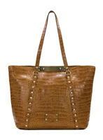 Patricia Nash Benvenuto Tote Vintage Croc Cognac Brown Leather New $249