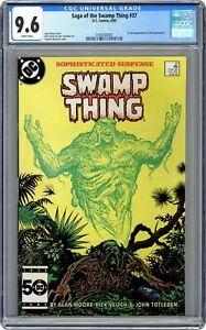 Swamp Thing #37 CGC 9.6 1985 3765455007 1st app. John Constantine Hellblazer