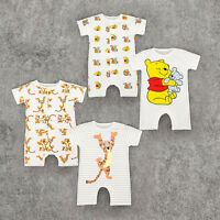 New Baby Short Sleeve Disney Tigger / Pooh Romper Kids Babygrows Clothes Outfits
