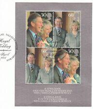 (55033) GB Used Prince Charles & Camilla Wedding minisheet 2005 ON PIECE