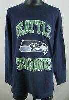 Seattle Seahawks NFL Team Apparel Youth Navy Blue Long Sleeve T-Shirt