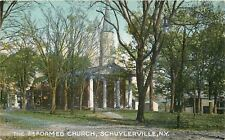 Shuylerville New York~The Reformed Church Steeple~1910 Postcard