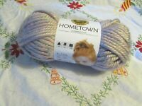 NEW LION BRAND HOMETOWN Palm Springs Pink and Gray Yarn Acrylic USA 113 g