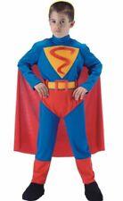 Costume SUPERBOY con mantello per bambini misura 10-11 anni