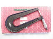 Starrett 222 Metric Sheet Metal Micrometer Deep Throat 0 25mm Original Box Euc