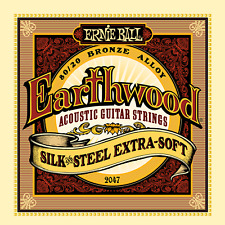 Ernie Ball Earthwood.010 - .050 Silk and Steel Extra Soft Acoustic Set 2047 New
