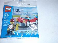 Lego 30221  City Fireman & Fire Car  NEW Factory Sealed Package  Polybag