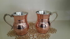 Moscow Mule Copper Mugs Set of 2 - Solid Copper Handcrafted Handmade Turkish Mug