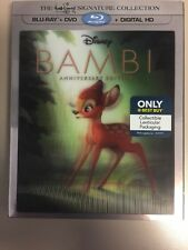 Bambi (Blu-ray/DVD, Lenticular Signature Collection With Tyrus Long Lithograph)
