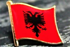 ALBANIA Albanian Metal Flag Lapel Pin Badge *NEW*
