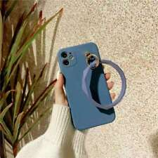 For iphone 8 XR XS 11 12 Pro Max Liquid Silicone Case Rubber Soft bracelet Cover